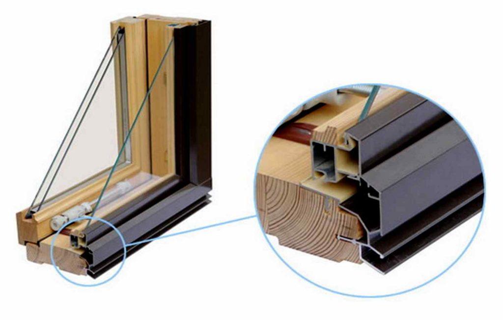 конструкция комбинированного оконного профиля